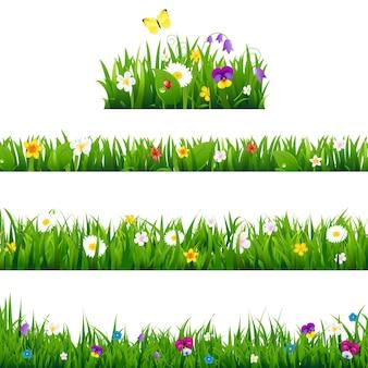 Grandes bordures de fleurs