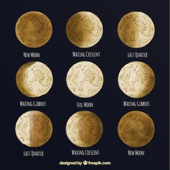 Grandes phases de la lune