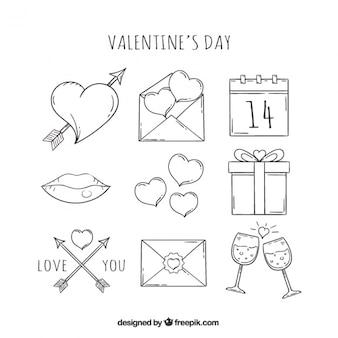 Grands articles prêts pour saint valentin