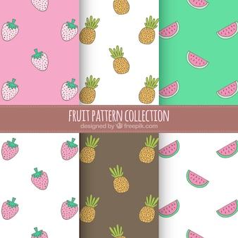 De grands motifs de fruits
