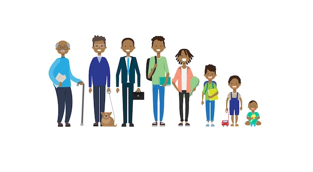Grands-parents africains parents petits-enfants mâles