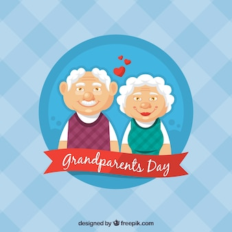 Les grands parents dans le fond amoureux