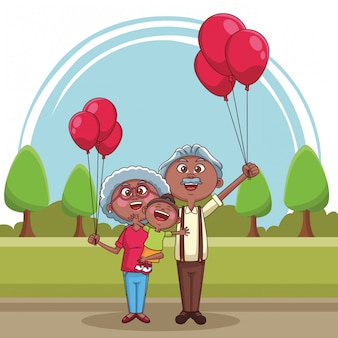 Grands-parents et enfants