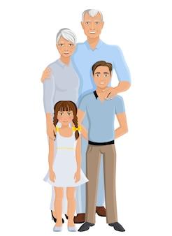 Grands-parents petite-fille et petit-fils