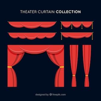 Grands rideaux rouges pour les théâtres