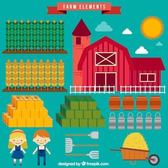 Grange avec des outils agricoles
