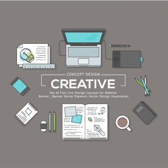 Graphic collection d'éléments de conception