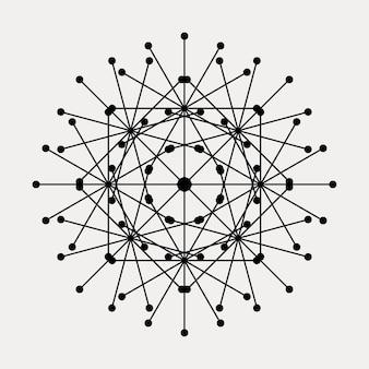 Graphique abstrait mandala dentelle ornement de fond.