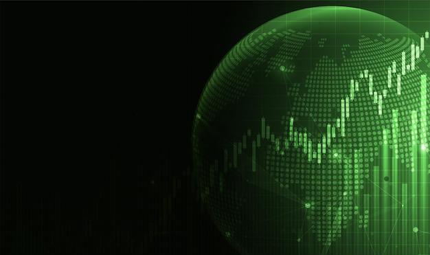 Graphique en bâtons de bougie de négociation d'investissements boursiers point haussier point baissier