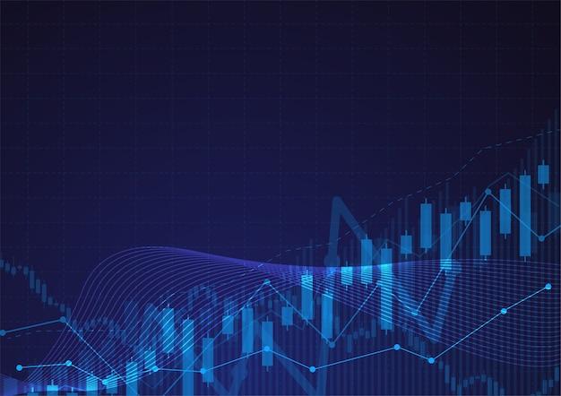 Graphique de bougie bâton graphique du marché boursier