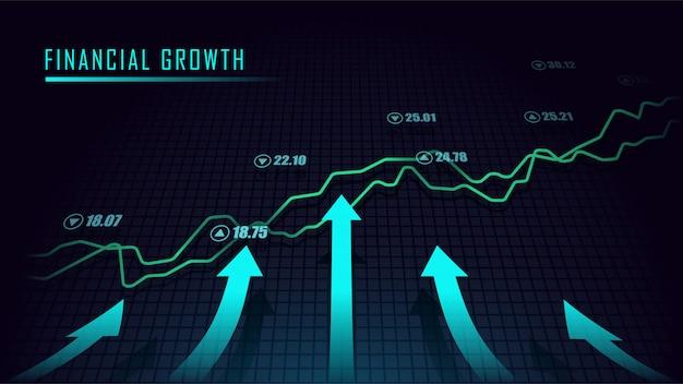 Graphique boursier ou forex en concept graphique