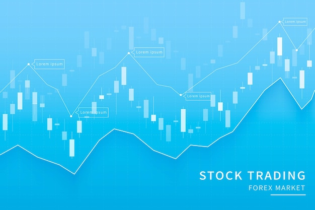 Graphique en chandelier en arrière-plan du marché financier