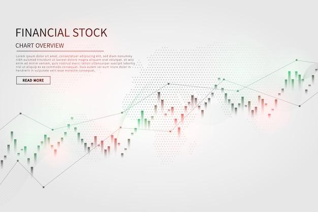 Graphique en chandelier sur le marché financier