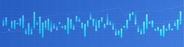 Graphique en chandeliers japonais. commerce en ligne. marché financier