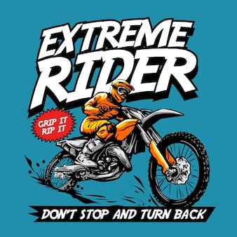Graphique de couverture de bande dessinée de motocross