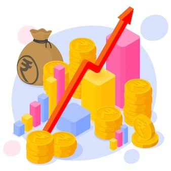 Graphique de croissance de l'investissement et de l'épargne en roupie indienne