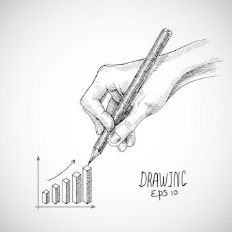 Graphique de dessin à la main