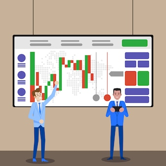Graphique du commerce forex ou crypto