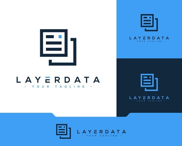 Graphique du logo de la technologie des données
