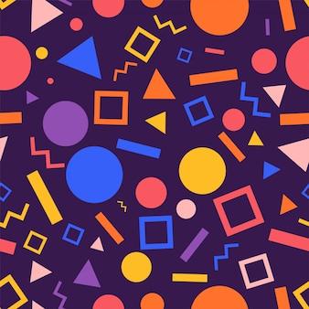 Graphique géométrique de motif de fond sans soudure. illustrer.