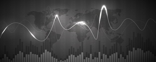 Graphique graphique de données financières. concept commercial