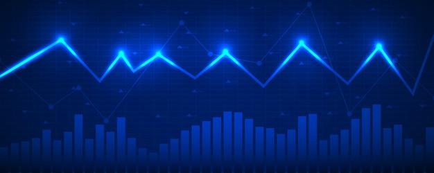 Graphique graphique de données financières