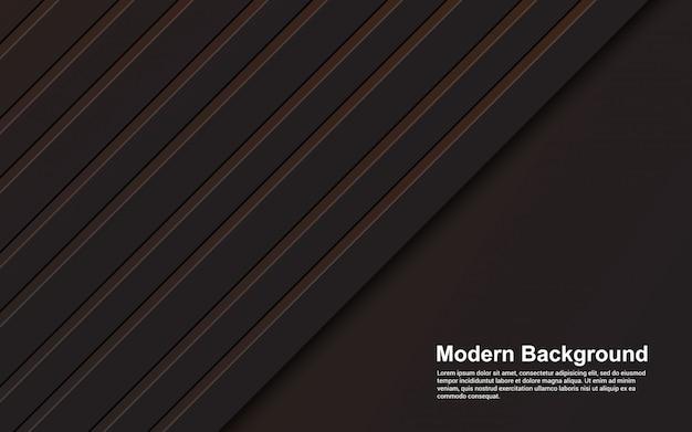 Graphique d'illustration de fond abstrait couleur noir et marron moderne