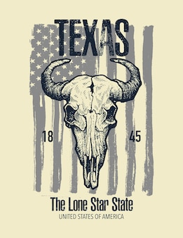 Graphique imprimé de t-shirt texas buffalo.
