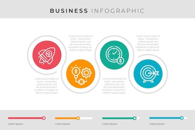 Graphique d'informations commerciales colorées