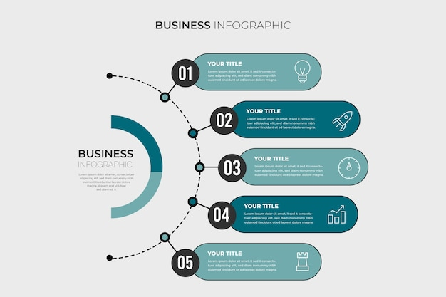 Graphique d'informations commerciales minimalistes