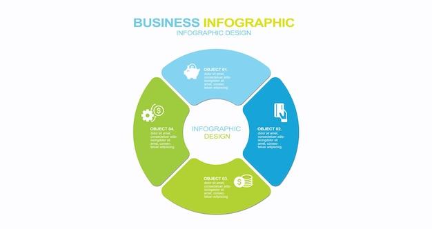 Graphique d'informations vectorielles modernes pour l'illustration stock de projet d'entreprise brochure de bicyclette abstraite