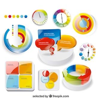 Graphique isométrique colorée