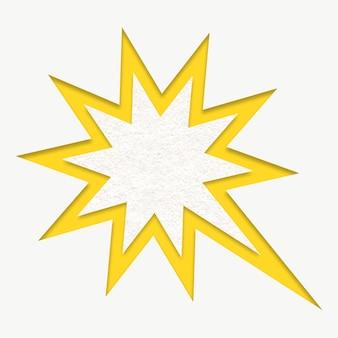 Graphique mignon comique d'explosion jaune