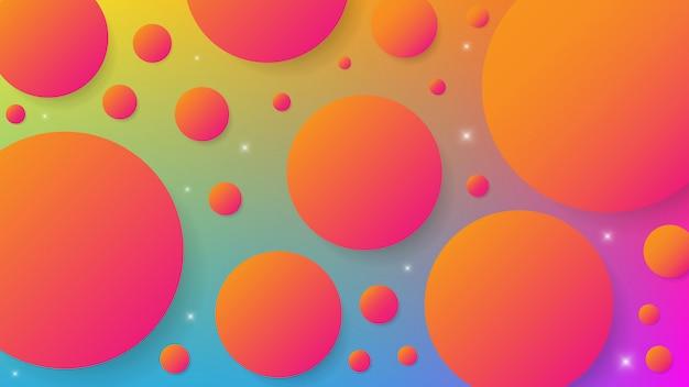 Graphique moderne abstrait fond coloré de formes et de vagues dynamiques