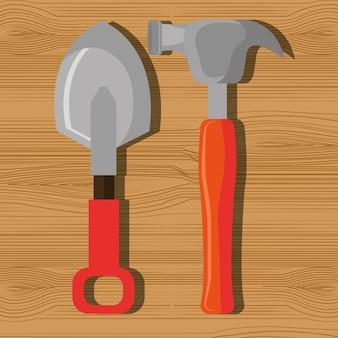 Graphique des outils de réparation de construction