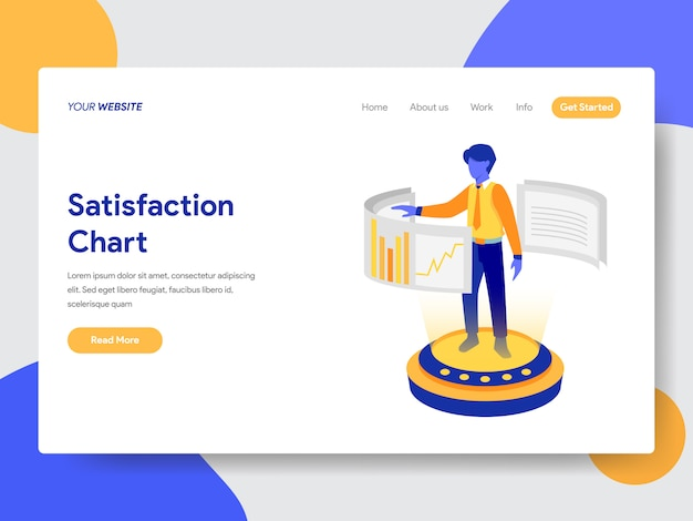 Graphique de satisfaction pour une page web