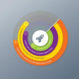 Graphique à secteurs infographique