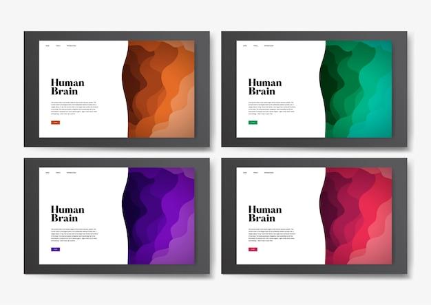 Graphique de site web informatif du cerveau humain