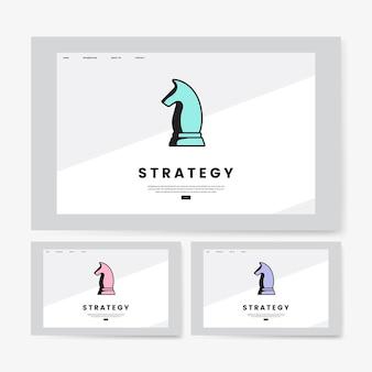 Graphique de site web d'information sur la stratégie d'entreprise