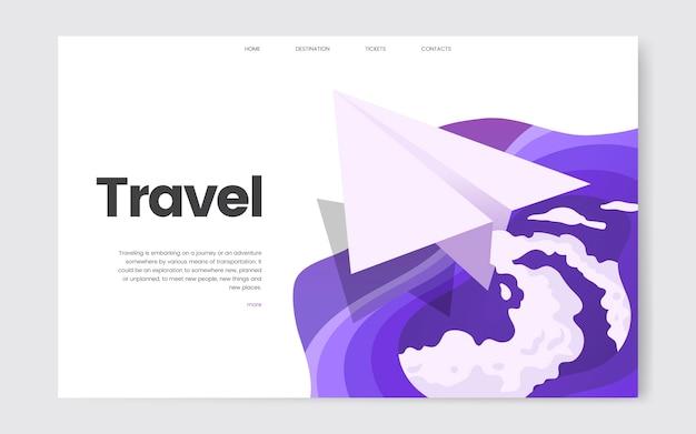 Graphique de site web d'information sur les voyages et les loisirs