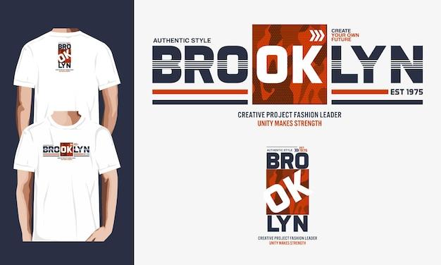 Graphique de style authentique de brooklyn