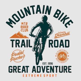 Graphique de t-shirt de vélo de montagne