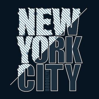 Graphique de timbre de t-shirt, emblème de typographie de vêtements de sport de new york, impression de tee vintage brooklyn, impression graphique de chemise de conception de vêtements de sport.
