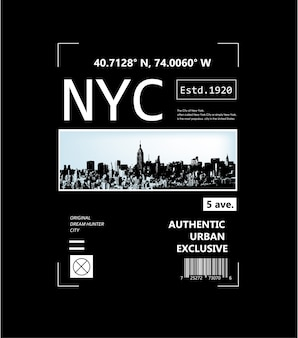 Graphique de typographie de la ville de new york pour t-shirt