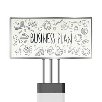 Graphiques d'affaires dans le billboard