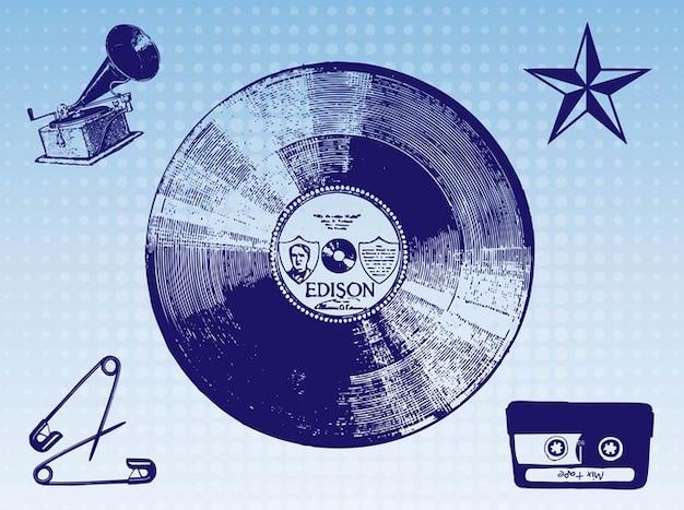 Graphiques anciennes affiches de musique