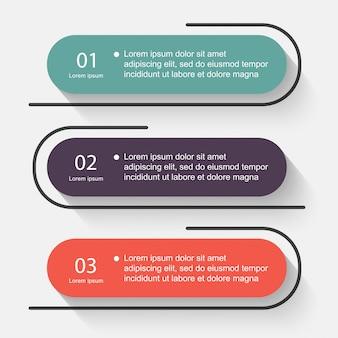 Graphiques colorés d'informations vectorielles pour vos présentations d'affaires.