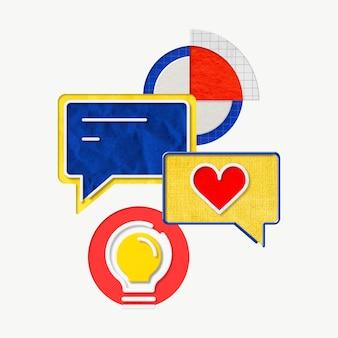 Graphiques commerciaux colorés pour l'ensemble de marketing