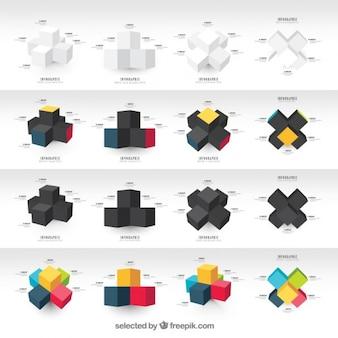 Graphiques avec des cubes