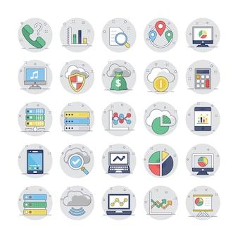 Graphiques et diagrammes commerciaux flat circular